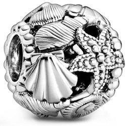Srebrna przywieszka pr 925 Charms obrączka białe cyrkonie PAN028