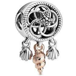 Srebrna przywieszka pr 925 Charms obrączka jasny róż cyrkonie PAN027
