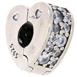 Srebrna przywieszka pr 925 Charms serce cyrkonie PAN088