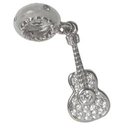 Srebrna przywieszka pr 925 Charms wiszący Gitara PAN228
