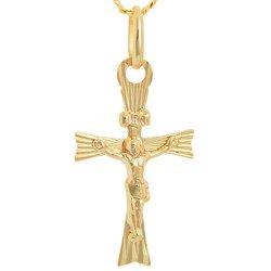 Złoty krzyżyk pr. 585 Krzyżyk z Jezusem ZK047