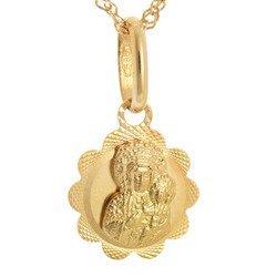 Złoty medalik pr. 585 M.B. Częstochowska kwiat  ZM033