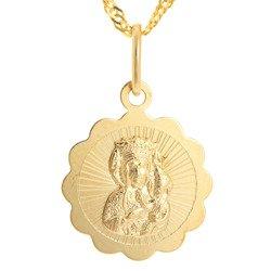 Złoty medalik pr. 585 M.B. Częstochowska kwiat ZM047
