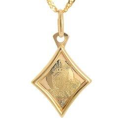 Złoty medalik pr. 585 M.B. Częstochowska romb ZM041