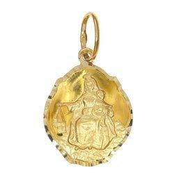 Złoty medalik pr. 585 M.B. Szkaplerzna koniczynka duża błyszcząca ZM110