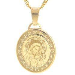 Złoty medalik pr. 585 Madonna z dzieciątkiem  ZM090