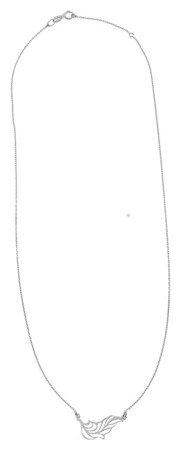 Celebrytka naszyjnik - LISTEK, PIÓRKO srebro pr 925 CEL79