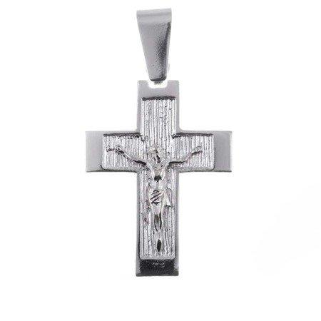 Krzyż srebrny z wizerunkiem Jezusa O118
