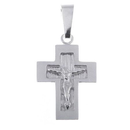 Krzyżyk srebrny z wizerunkiem Jezusa MO032
