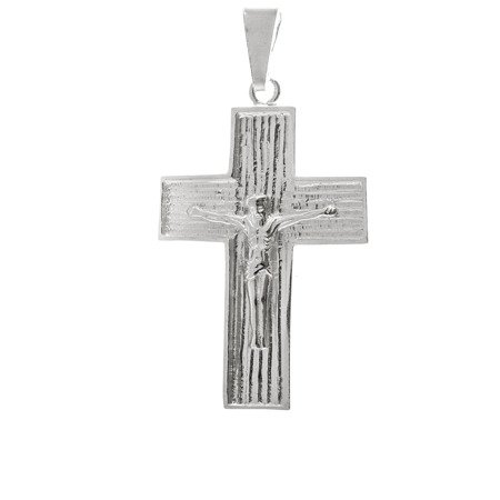 Krzyżyk srebrny z wizerunkiem Jezusa MO107