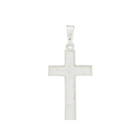 Krzyżyk srebrny z wizerunkiem Jezusa MO141