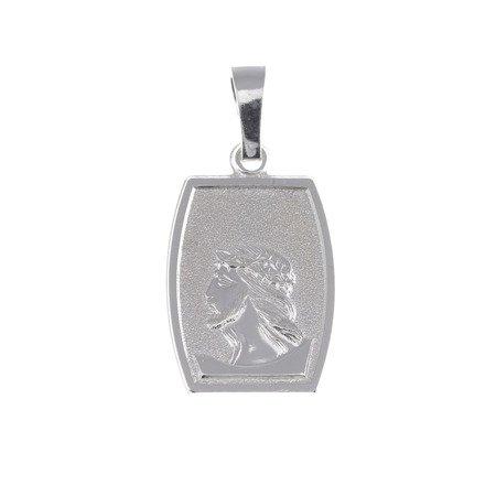 M75 Medalik srebrny - Jezus w koronie cierniowej