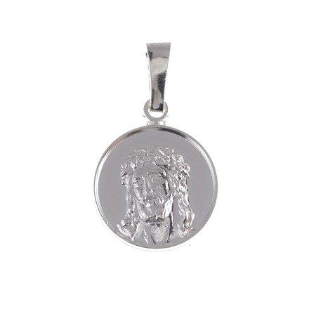 Medalik głowa Jezusa srebrny - Jezus w koronie cierniowej MM078