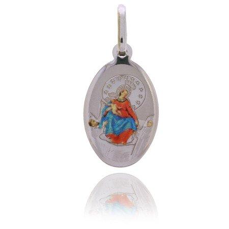 Medalik srebrny (1,6 g) - Matka Boża Pompejańska MK026