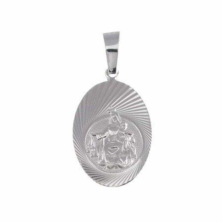 Medalik srebrny - Matka Boża Szkaplerzna Szkaplerz M029