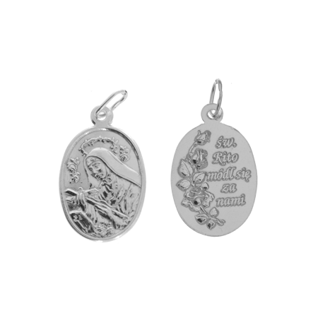 Medalik srebrny - Święta Rita ML011
