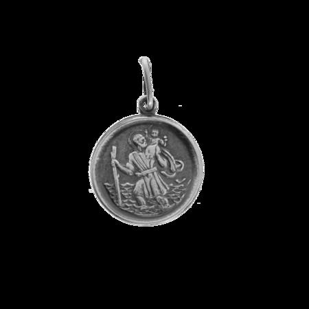 Medalik srebrny - Święty Krzysztof ML003