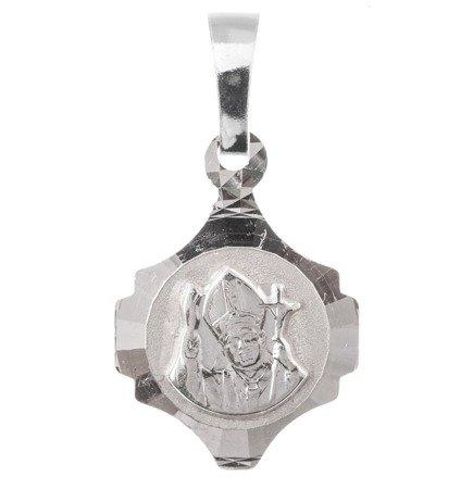 Medalik srebrny diamentowy - Papież Święty Jan Paweł II MD53