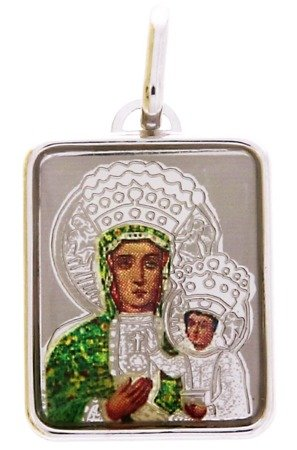 Medalik z Matką Boską Częstochowską srebrny (1,8 g) - MK009