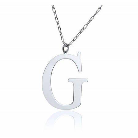 Naszyjnik celebrytka literka G 3,0 cm srebro rodowane pr 925 CELG3CM
