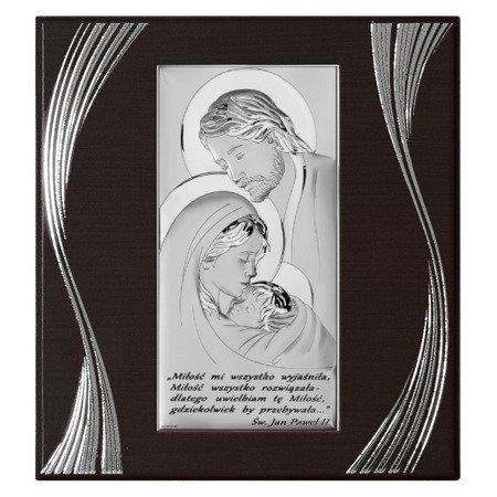 Obrazek Srebrny Święta Rodzina drewniana ramka 6380SF