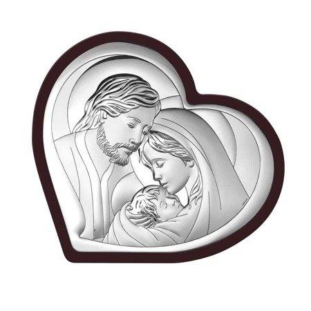 Obrazek Srebrny Święta Rodzina drewniana ramka 6432WM