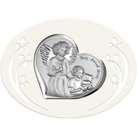 Obrazek srebrny Anioł Stróż 6526P