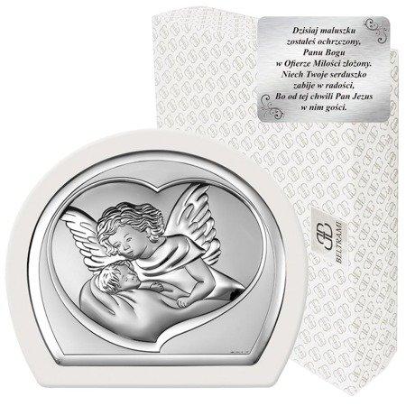 Obrazek srebrny Aniołek nad dzieckiem 6525W