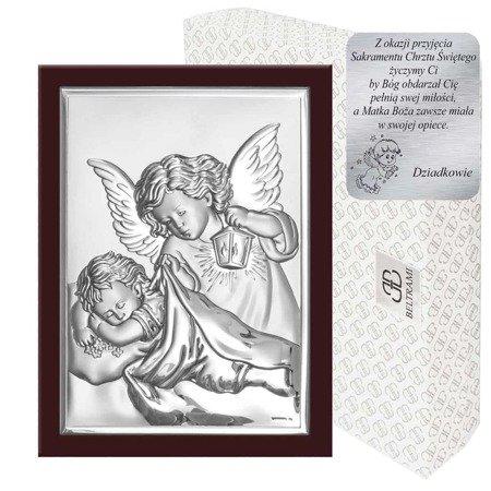 Obrazek srebrny Aniołek z latarenką 6325WM