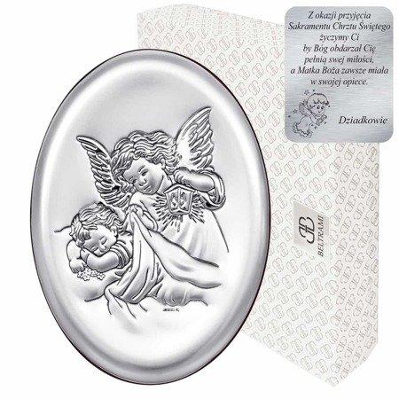 Obrazek srebrny Aniołek z latarenką 6385