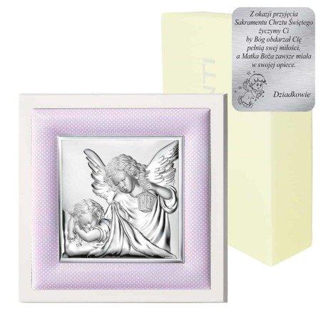 Obrazek srebrny Aniołek z latarenką 75020R