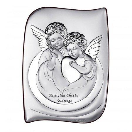 Obrazek srebrny Aniołki z serduszkiem 6519S