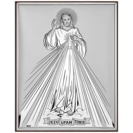 Obrazek srebrny Jezus Miłosierny DS34