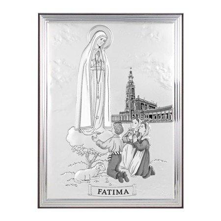 Obrazek srebrny Matka Boska Fatimska 31107A