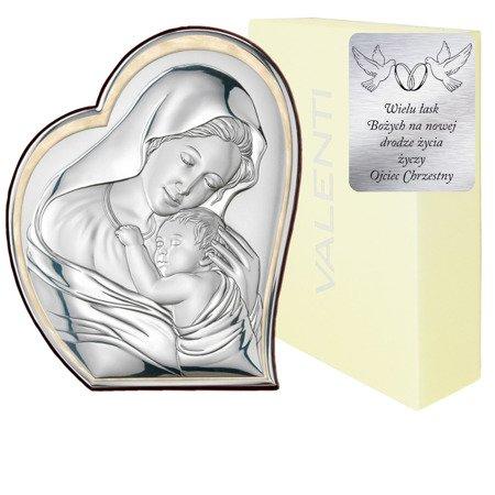 Obrazek srebrny Matka Boska z dzieciątkiem 81051 ORO