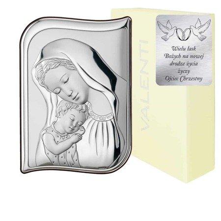 Obrazek srebrny Matka Boska z dzieciątkiem 82100