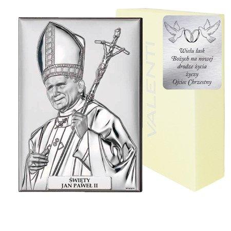 Obrazek srebrny Papież Święty Jan Paweł II 18029