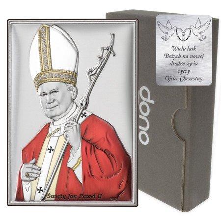 Obrazek srebrny Święty Jan Paweł II papież DS16C