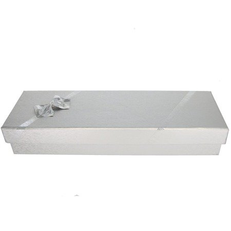 Pudełko na bransoletkę z kokardą srebrne P40/2SREBRNE
