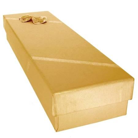 Pudełko na bransoletkę z kokardą złote P40/2ZŁOTE