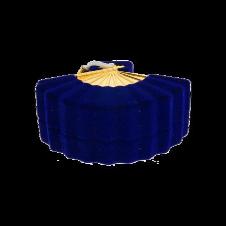Pudełko na pierścionek niebieskie P5/NIEB