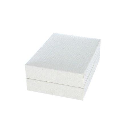 Pudełko skórzane białe na kolczyki PDH-3/A1