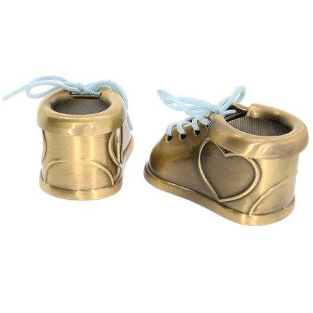 Puzderka na pierwszy ząbek oraz pukiel włosów, kolor stare złoto, buciki 473-3406