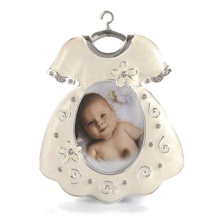 Ramka dziecięca z masy perłowej - beżowa, sukienka 473-3293