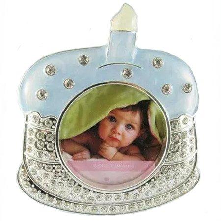 Ramka dziecięca z masy perłowej - niebieska, torcik urodzinowy 473-3163