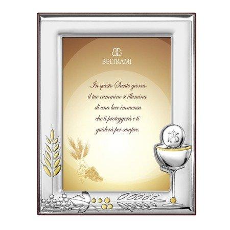 Ramka srebrna pamiątka I Komunii Świętej 1187