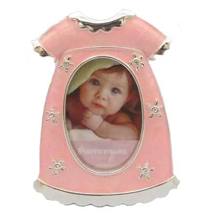 Ramka z masy perłowej - różowa, sukienka 473-3118
