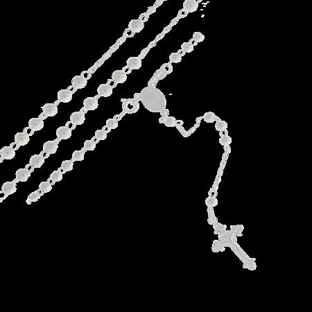 Różaniec srebrny - 5 dziesiątek 4,0 mm, 5,0mm srebro pr. 925 RC037