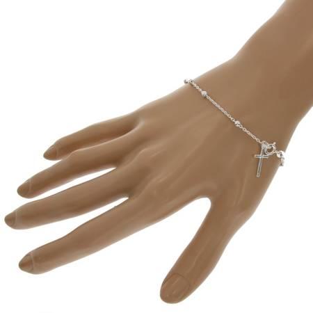 Różaniec srebrny - bransoletka różańcowa na rękę, dziesiątek, 2,1-2,5 g, srebro pr. 925 BRP03