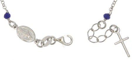 Różaniec srebrny - bransoletka różańcowa na rękę, dziesiątek, 3,0-3,5 g, srebro pr. 925 BRS38